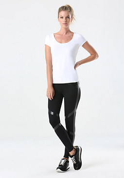 bebe Foil Stripe Leggings