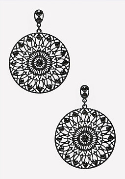 bebe Filigree Circle Earrings