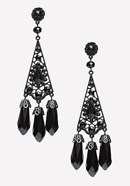 Tonal Triple Drop Earrings at bebe