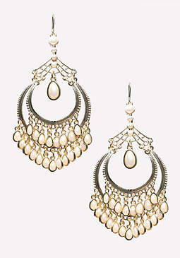 bebe Pearlescent Drop Earrings