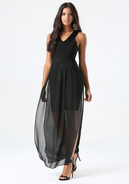 bebe Petite 2-Fer Bandage Dress