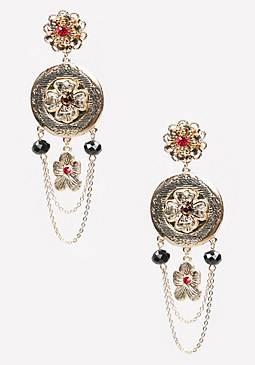 bebe Flower Statement Earrings