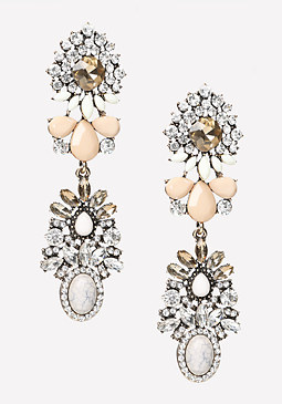 bebe Double Cluster Earrings