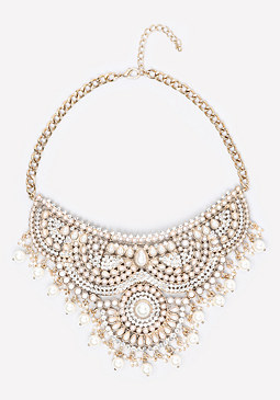 bebe Scrolled Bib Necklace