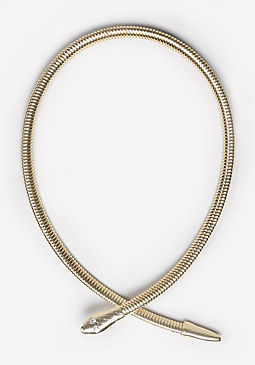 bebe Snake Coil Collar Necklace