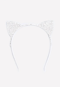 bebe Crystal Cat Headband