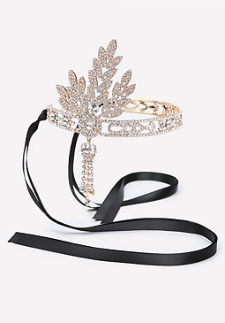 bebe Crystal Flapper Headband