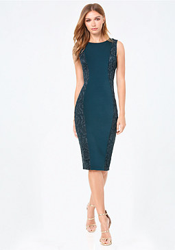 bebe Petite Curve Lace Dress