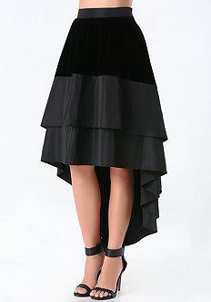 Velvet Hi-Lo Skirt