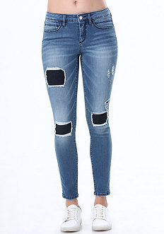2-Tone Patch & Repair Jeans