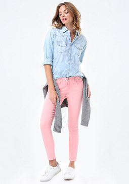 bebe Colorful Heartbreaker Jeans