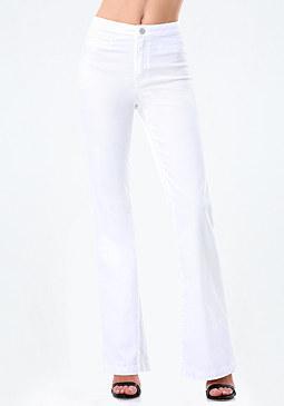 bebe High Rise Flared Jeans