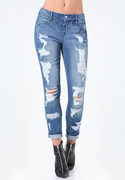 bebe Repair Boyfriend Jeans