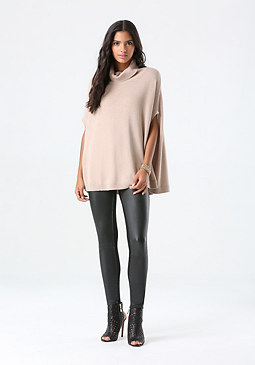 bebe Mock Neck Pullover Sweater
