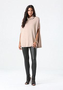 bebe Mock Neck Pullover Sweater