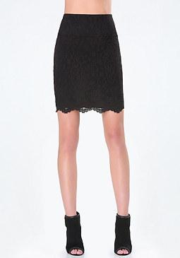 bebe Scallop Lace Miniskirt