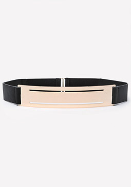 bebe Metal Plate Stretch Belt