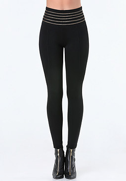 bebe Chain Waist Leggings