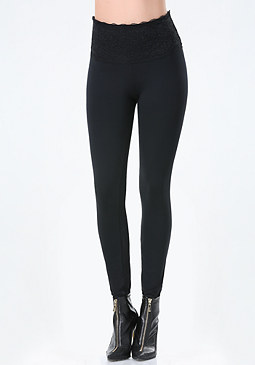 bebe Lace High Rise Leggings