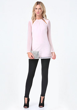 bebe Bell Sleeve Tunic Top
