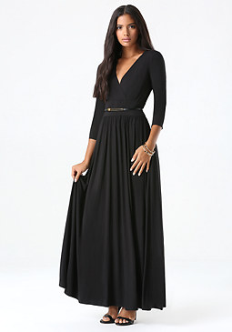 bebe Surplice Maxi Dress