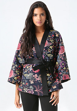 bebe Jacquard Kimono Jacket