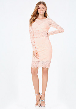 bebe Lace Bralette Dress