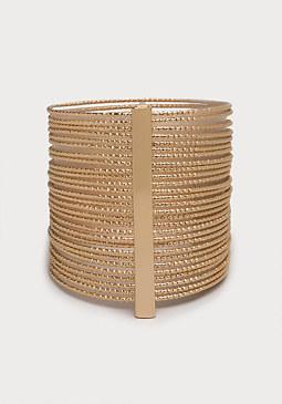 bebe Textured Cuff Bracelet