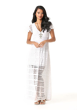 bebe Petite Knit Maxi Dress