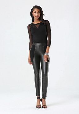 bebe Block Ponte Leggings