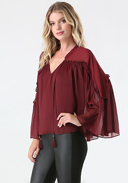 bebe Cape Sleeve Blouse