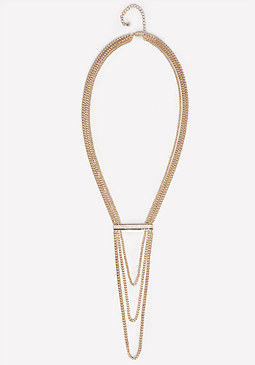 bebe Logo Bar Chain Necklace
