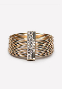 bebe Logo Bar Bangle Bracelet