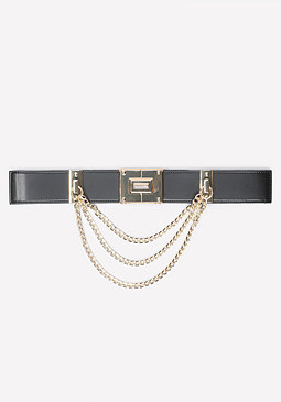 bebe Chain Detail Stretch Belt