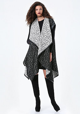 bebe Mina Draped Coat