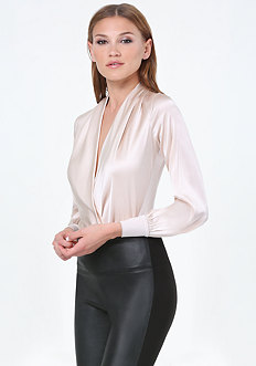 Silk Wrap Bodysuit