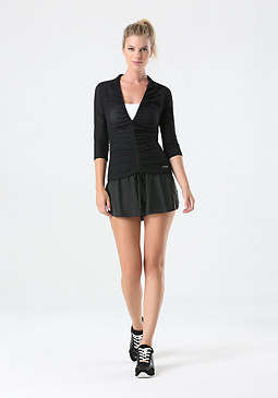 bebe Mesh Ruched Jacket