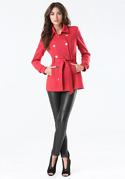 bebe Fleece Pea Coat