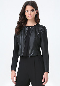 bebe Julia Faux Leather Jacket