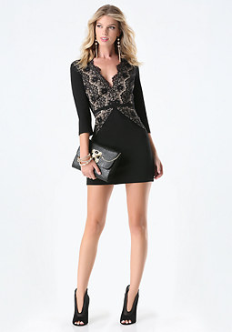 bebe Magda Lace Dress