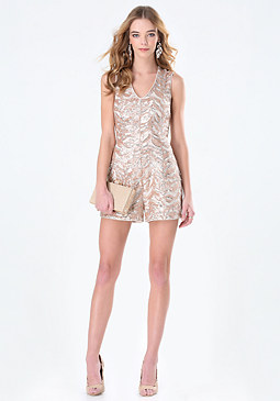 bebe Carly Sequin Romper