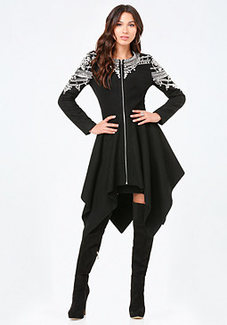 bebe Embellished Empress Coat