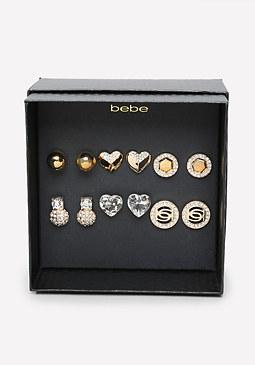 bebe Logo Stud Earring Set