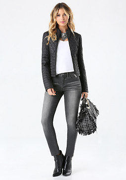 bebe Quilted Puffer Jacket
