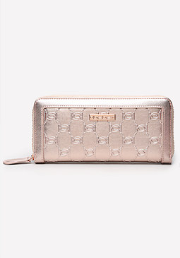 bebe Interlocking Logo Wallet
