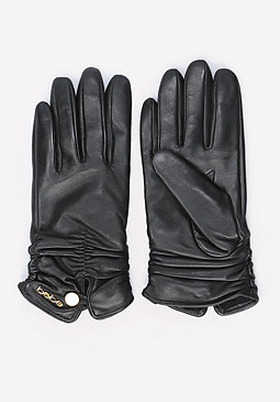 bebe Short Ruched Gloves