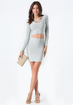 bebe Crisscross Neck Bandage Top
