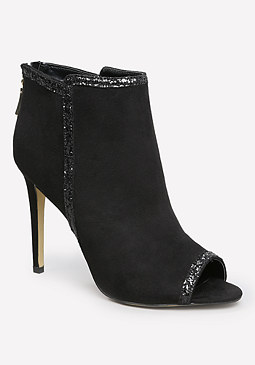 bebe Adalyyn Open Toe Booties