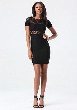 bebe Lace Inset Dress