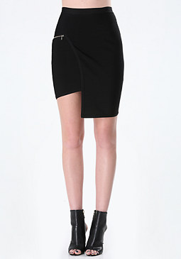 bebe Angled Panel Bandage Skirt